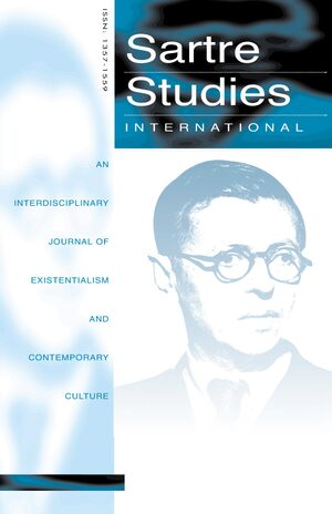 Cover Sartre Studies International